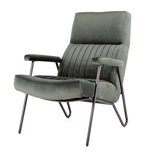 Fauteuil William velvet groen